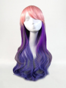 Sunny-business New Long Multicolor Curly Lolita Wave Party of Cosplay Wig