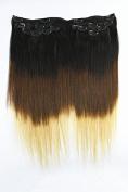 60cm Clip on in Brazilian Straight Hair Remy Human Virgin Hair Extensions T1b/4/27 7pcs 100g
