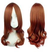 Sunny-business Anime Brown Wave Party Curly of Cosplay Wigs
