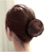 LIFECART Pony Tail Hair Extension Bun Up on Hair Piece Synthetic Hairpiece - Burgundy