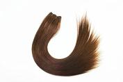Brazilian Silky Straight Hair Unprocessed Human Virgin Hair Remy Hair Extension Weave Weft #4 Medium Brown 100g/bundle 3 Bundles