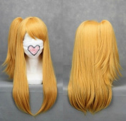 Flyingdragon Fairy Tail-Rushii.Hatofuitia Yellow Cosplay wig Clip Wig
