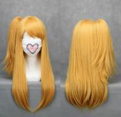 Flyingdragon Fairy Tail-Rushii.Hatofuitia Yellow Cosplay wig Clip Wig