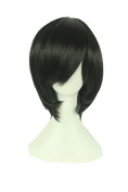 Playcosland Ladies and Women Fancy Anime Cosplay Short Hair Black