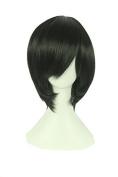 Playcosland Ladies and Women Fancy Anime Cosplay Short Hair Black