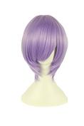 Playcosland Ladies and Women Fancy Anime Cosplay Short Hair Light Purple