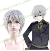 Flyingdragon APH Prussia Short Silver Grey Cosplay Heat Resistant Party Wig