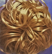 KATIE 18cm Pony Fastener Hair Scrunchie 24B Butterscotch Creme Blonde