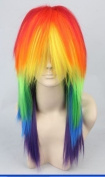 Colourful My Little Pony Twilight/dashie/aj/rarity/fluttershy/pinkie Pie Party Cosplay Costume Wigs