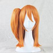 Love Live! Kosaka Honoka Orange Cosplay Costume Wig + 1 ponytails