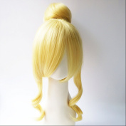 Love Live! School Idol Project Shichifukujin Ayase Eri Light Gloden Cosplay Wig + 1 ponytails