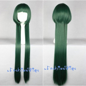 100cm Long Reborn Yuni Green Anime Cosplay Wigs, Costume Long Green Wig UF014