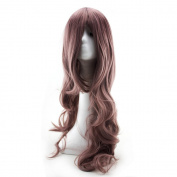 WELLKAGE 80cm Cosplay Sexy Womens Girls Fashion Style Wavy Curly Long Hair Human Full Wigs