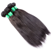 UU Hair Weave 6A Grade Indian Virgin Human Hair Extensions Body Wave/Straight Indian Human Hair Weave Natural Black 4Bundles/lot
