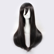 C.J. SHOP Japanese manga cosplay Kagerou project Tateyama Ayano black straight hair 65cm / 25.59 inches wig cap