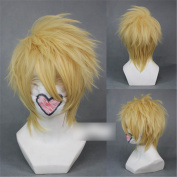 AMNESIA Toma Blonde Light Golden Anime Cosplay Short Hair Wig Party 30cm/11.81in with free cap
