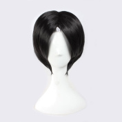 C.J. SHOP Japanese manga cosplay hozuki no hair Reitetsu hozuki black short hair 32cm / 12.59 inches wig cap