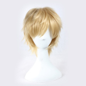 C.J. SHOP Japanese manga cosplay Kagerou project Kano yellow hair short hair 35cm / 13.77 inches wig cap