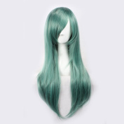 C.J. SHOP Japanese manga cosplay Kagerou project Kido mint green hair straight hair 65cm / 25.59 inches wig cap