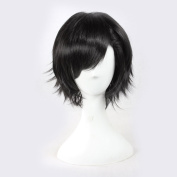 C.J. SHOP Japanese manga cosplay Kagerou project SETO hair short black hair 35cm / 13.77 inches wig cap
