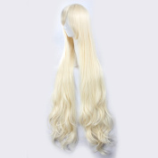 C.J. SHOP Japanese manga cosplay Kagerou project Marry curly hair Light Golden 120cm / 47.24 inches wig cap