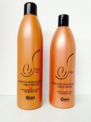 Cosmo Sline Restructuring Shampoo for Treated Hair 1000ml and Restructuring Mask for Treated Hair 1000ml