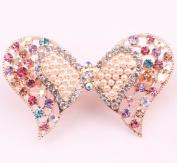 Elegant Rhinestone Crystal Butterfly Hair Barrette Hair Accessory for Women