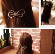 Women Alloy Hair Accessories Bowknot Clip Bow Headbands Hair Jewellery for Lady