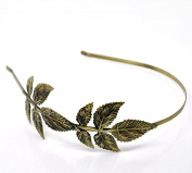 Hairbands New Women S Bronze Tone Leaf Headbands Hair Band 4mm Wide 5pcs