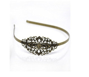 5 Pieces, Wig Bang Bronze Tone Flower Headbands Hair Band Copper Hairband Girls Headwear Hair Jewellery for Women 38cm