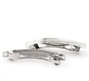 20 Pieces New Trend Silver Tone Hair Barrette Clips Findings 7.7x1.2cm