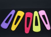 20 Pieces Trend Mixed Nylon Hair Clip Covers for Kid Toddler 52x17mm