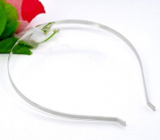 10 Pieces Beautiful Unique Design Silver Tone Headbands Hair Band 14.5x12.5mm 5mm Wide