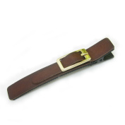 Artemis® Brown Leather Alligator Hair Clip