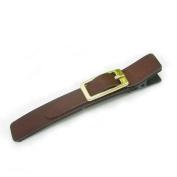Artemis® Brown Leather Alligator Hair Clip