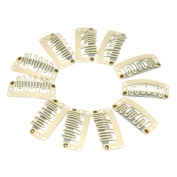 H88-50 X CLIPS BEIGE SNAP CLIPS FOR HAIR EXTENSION 33MM # 5300170