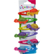Lil Hauoli Kids Hair Snap Clips Set of 6 Walking Turtle