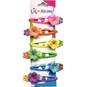 Lil Hauoli Kids Hair Snap Clips Set of 6 Sparkle Hibiscus
