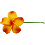 Fimo Flower Flexible Hair Pick Plumeria Goldenrod