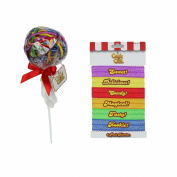 Candy Crush Lolly Pop Elastic No-Damage Hair Ties and No Crease Ponytail Holders