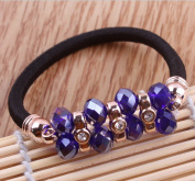 Navy Blue Hair Accessories Pearl Ponytail Holder Hair Ring/hair Circle for Girl/women Hairbands