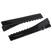 100 Pieces Hair Clip Alligator Tone Barrettes Black 4.6cm X0.7cm