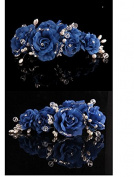1 Pieces Beige Silky Flower Rhinestone Bridal Wedding Headpiece Head Wrap Hair Clip Pearl Hair Accessories