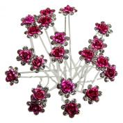 Nestarfactory Rose U-sharped Design Collection Metal Hiar Pins Pack of 20