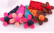 Cuhair(tm) From Factory Wholesale or Retail 5pcs Flower Cloth Design About 6.5cm Women Kid Children Girl Hair Clip Hairpin Baby Hair Pins Hair Clip Baby Hair Accessories Girl Accessories