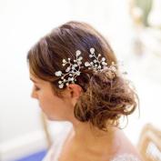 HailieStudio Women's Handmade Pearl Rhinestone Floral Vine Bridal Hair Pins