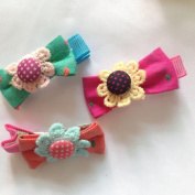 Cuhair(tm) From Factory Wholesale or Retail 6pcs Flower Cloth Design About 4cm Women Kid Children Girl Hair Clip Hairpin Baby Hair Pins Hair Clip Baby Hair Accessories Girl Accessories