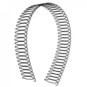 Woman Head Decoration 56 Toothed Metal Wire Hair Hoop Hairband Black