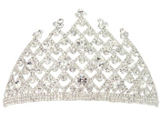 Seasofbeauty Silver Plated Rhinestone Crystal Diamante Tiara Crown