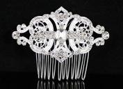 Janefashions Gatsby Clear Austrian Rhinestone Crystal Hair Comb Tiara Bridal Wedding N1809